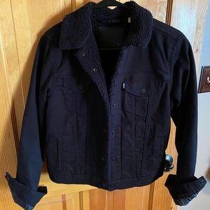 Levi's Black Jean Fur Jacket
